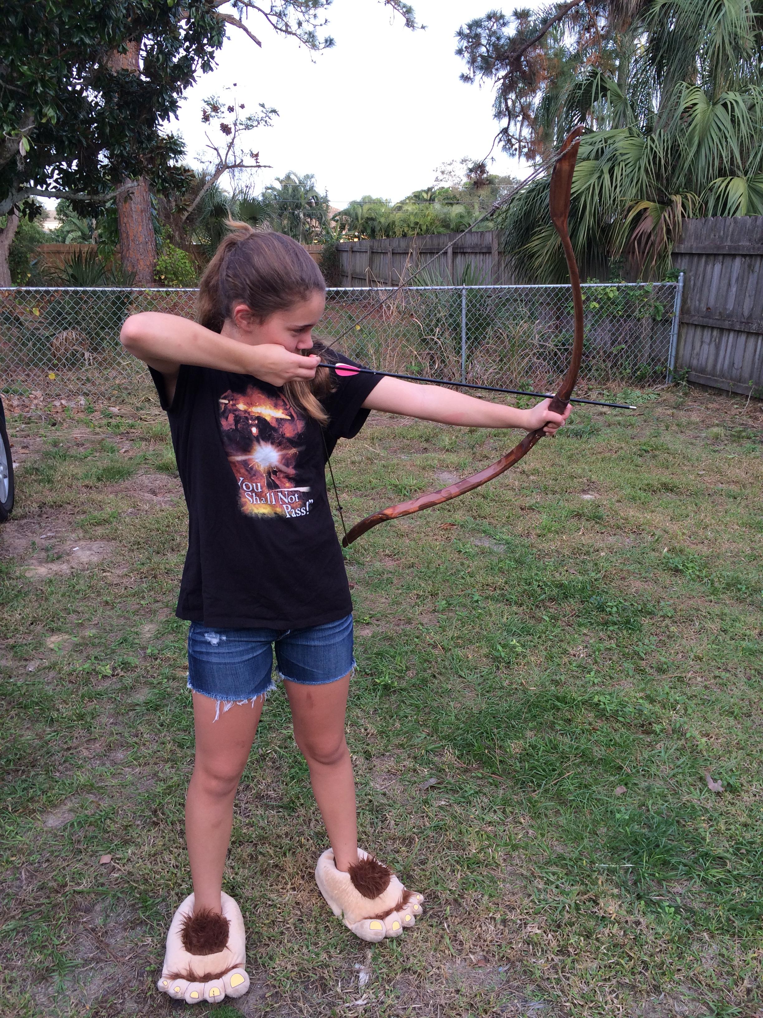 Nerd alert build your kid a hobbit bow bigpig blog for Kids pvc bow